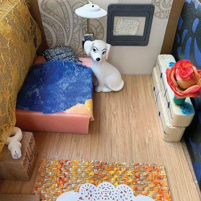 een droomhuis van een kleuter gemaakt tijdens een kinderfeestje