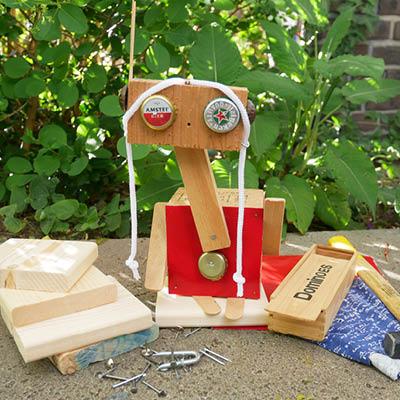 Robot getimmerd door Hannah en Nora